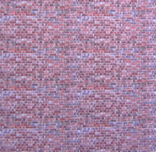 1:160 scale A4 sheet red brick self adhesive vinyl 297 x 210 mm N gauge