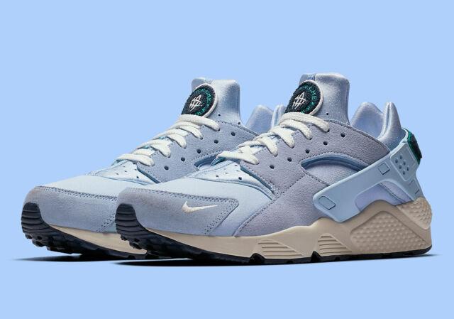 Nike Air Huarache Run Premium Herren Sneaker Blau Größe UK 8, EUR 42.5