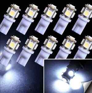 10X-T10-194-168-W5W-5-SMD-5050-White-LED-Car-Wedge-Tail-Side-Light-Lamp-Bulb-12V