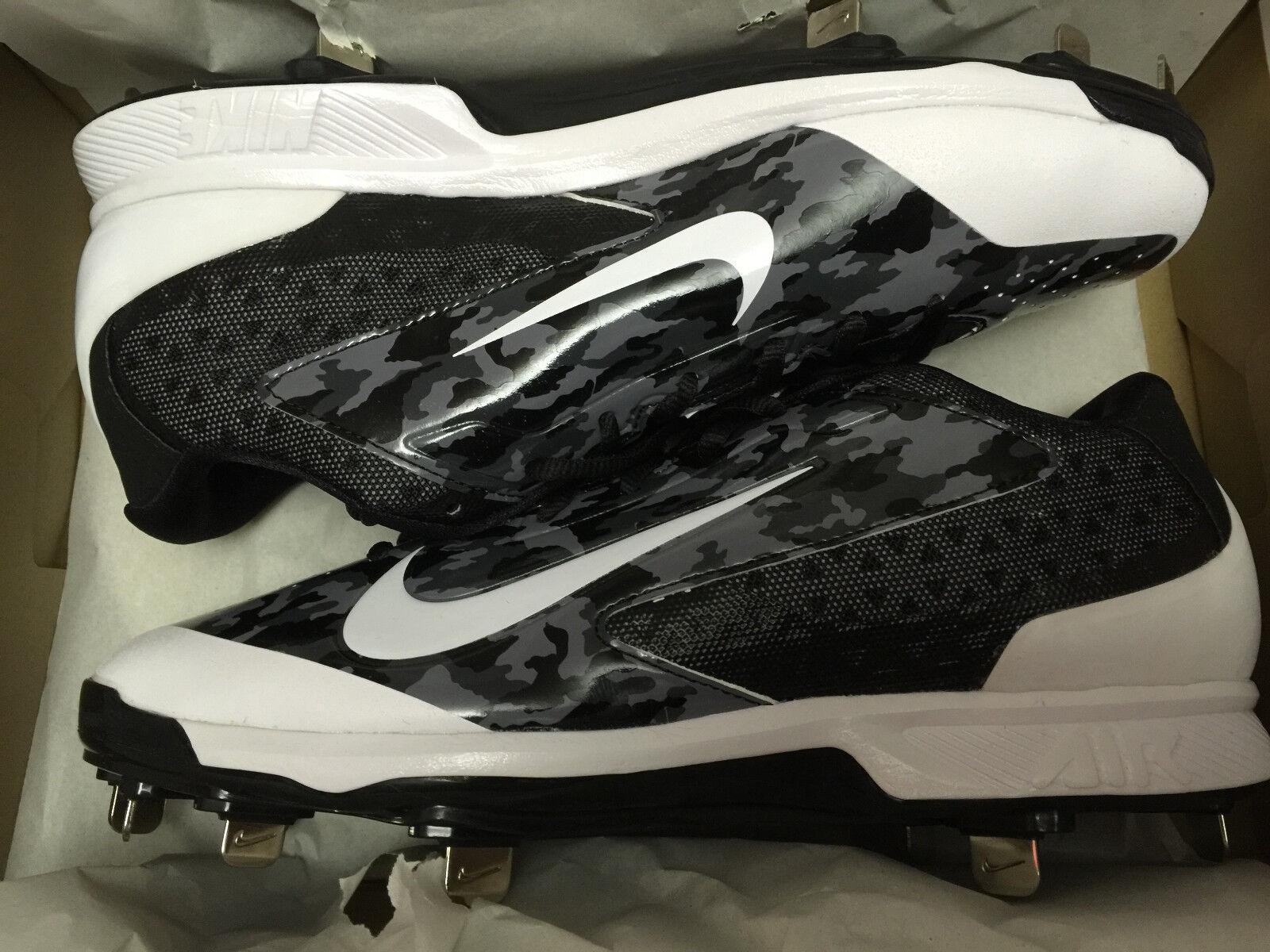 Nike Huarache pro Niedriger Metall Baseball Baseball Baseball Stollenschuhe 599233-099 Msrp Selten 93fba8