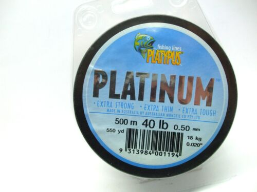 Platypus Platinum Fishing Line Monofilament 500 metre spools  BRAND NEW