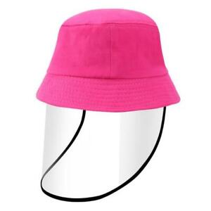 For Kids Safety Face Shield Protective Bucket Hat Fisherman Cap Anti Spitting US