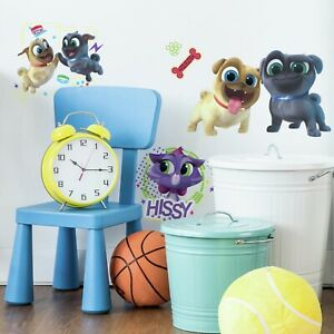 13-New-PUPPY-DOG-PALS-peel-amp-stick-Wall-Stickers-hissy-pug-Kid-Room-Decor-DecaLs