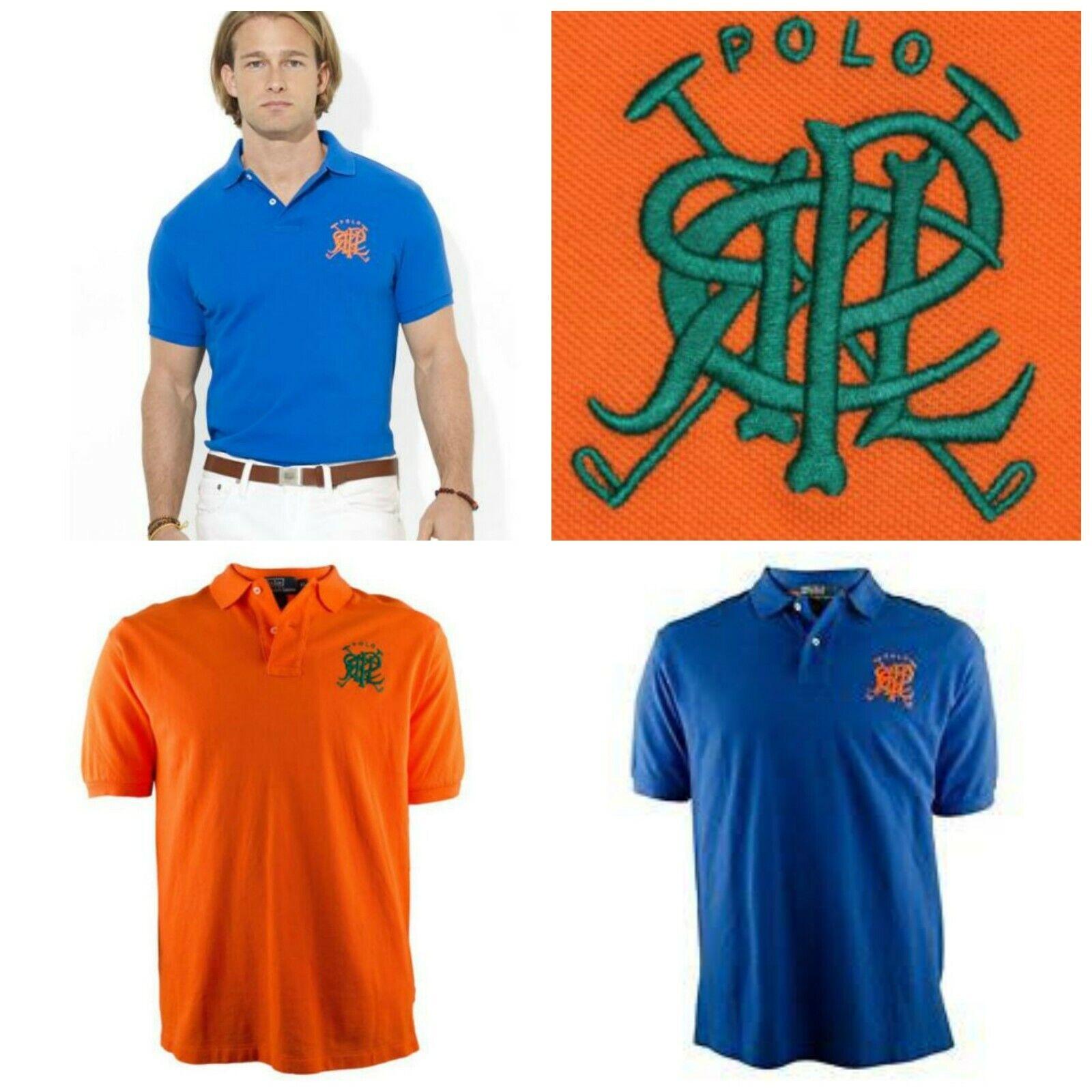 Men's Polo Ralph Lauren Shirt Classic-fit Cross Mallets Mesh Keel XL 2XL,