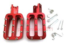 pit dirt bikes Red CNC Billet Foot Pegs For Honda CRF50 XR50 Crf70 Thumpstar Dhz