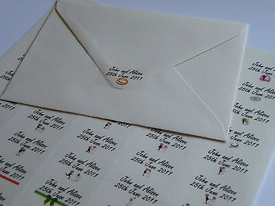 CLEAR Wedding Stickers Personalised Invitation labels envelope seals glossy x150
