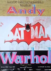 ORIGINAL VINTAGE POP ART POSTER ANDY Warhol Batman Museum Poster ...