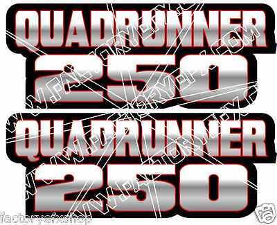 QuadRunner 250 Gas Tank Graphic Decal Sticker Atv Quad Runner atv 400 500 red
