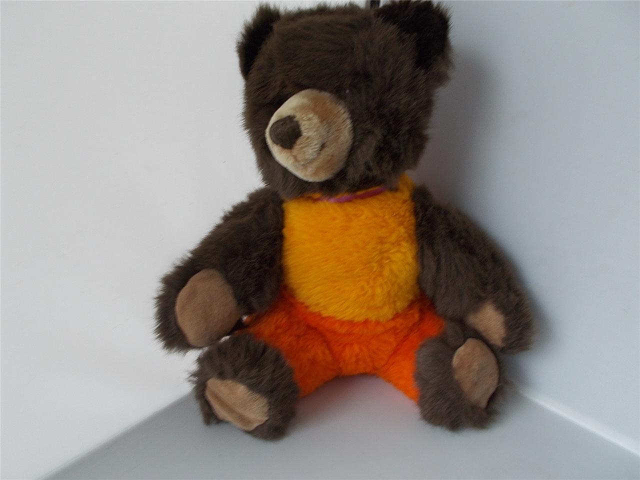 VINTAGE RARE BALENA Carino Teddy Bear con bottone in ear Peluche Giocattolo morbido Tedesco