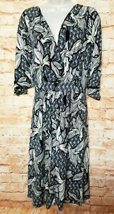 Jaclyn Smith Women Size 3x Fit Amp Flare Floral Dress Wrap