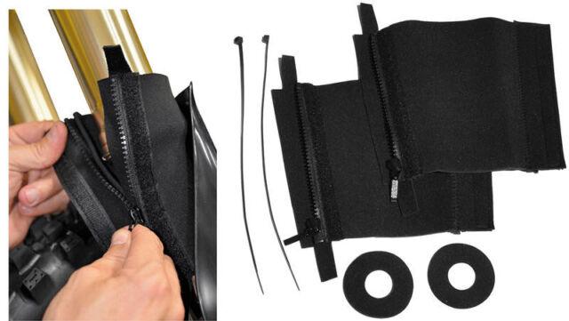 Easy On ForkSkins Fork Seal Protect Skins Short 44mm-50mm Sleeves PC Racing Pair