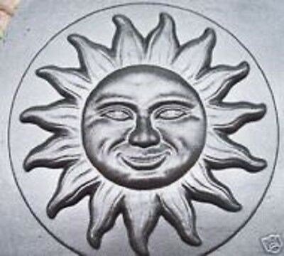 "Smile sun face stepping stone plastic mold 13"" x 2"""