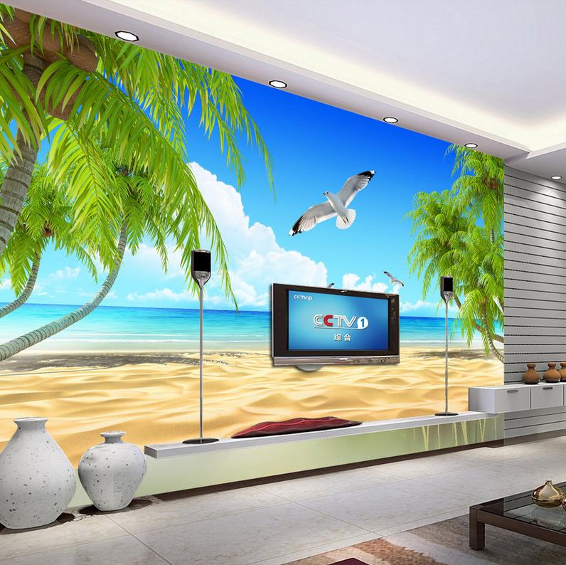 3D Möwe Strand 8643 Tapete Wandgemälde Tapete Tapeten Bild Familie DE Summer | Erste in seiner Klasse  | Attraktiv Und Langlebig  | München Online Shop
