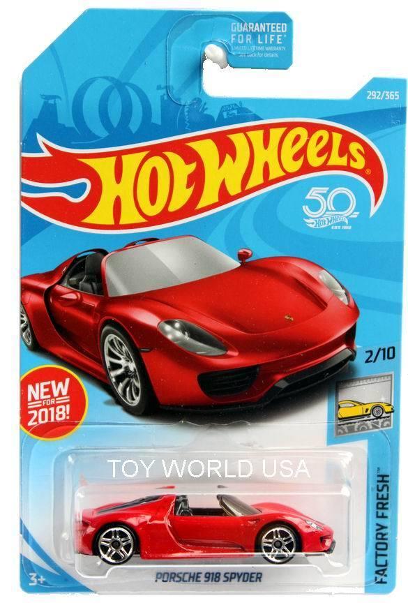 2018 Hot Wheels Factory Fresh Porsche 918 Spyder PR5 wheels Rare   VHTF