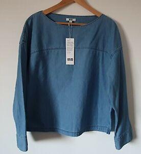 Uniqlo ladies Denim Longsleeves oversize Tunic Top Size M BNWT