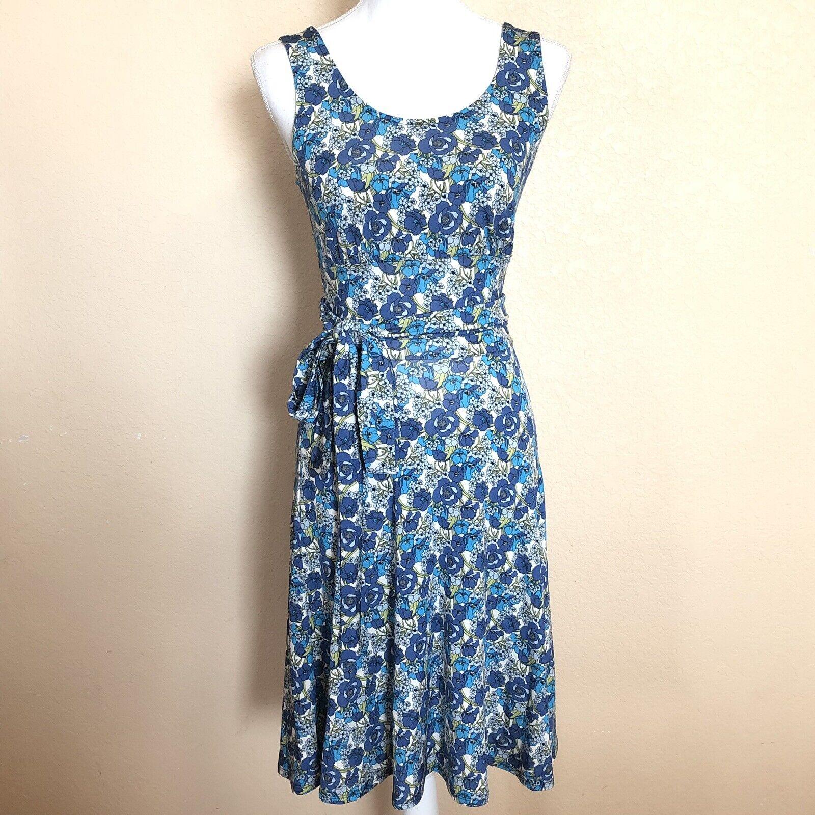 Sahalie XS bluee Floral A line Dress Easter Summer Dress Sun Casual
