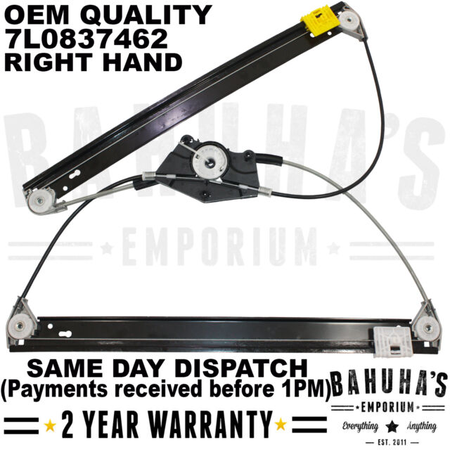 PORSCHE CAYENNE 955 02-10 ELECTRIC WINDOW REGULATOR FRONT RIGHT SIDE  7L0837462A