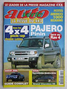 AUTO-VERTE-4X4-N-224-PAJERO-pinin-VS-RAV4-GRAND-CHEROKEE-V8-DAKAR-2000