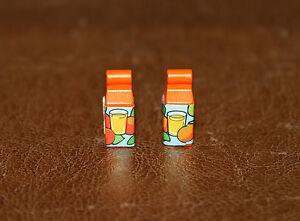 Playmobil vie quotidienne lot de 2 bricks de jus d/'orange