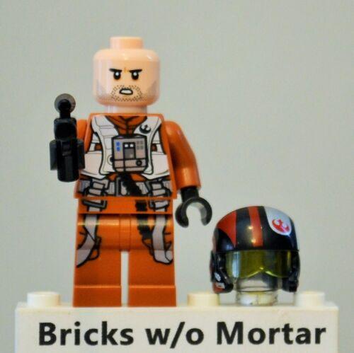 New Genuine LEGO Poe Dameron Minifig Star Wars 75102