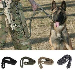 Tactical-Police-Dog-Training-Leash-Belt-Elastic-Bungee-Canine-Military-Strap-AL