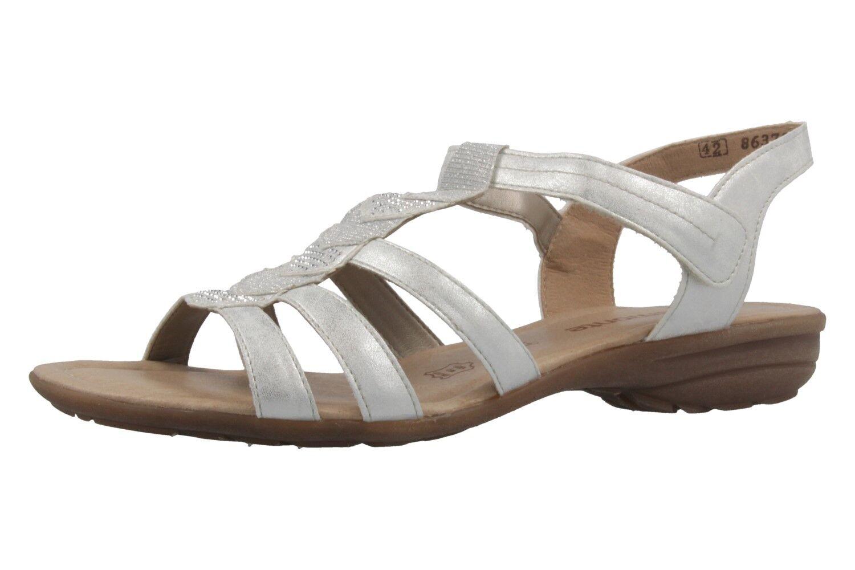 REMONTE - Damen Sandalen - Übergrößen Silber Schuhe in Übergrößen - 76c0a0