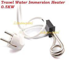 Calentador Agua Inmersión 0.5KW De Viaje Travel Camping Mini café de agua caliente de caldera