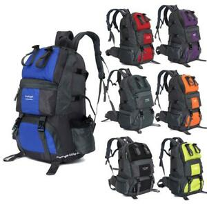 Hot Large 50L Backpack Hiking Bag Camping Travel Day Pack Climbing Sports Colors