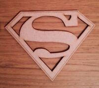 Superman logo plaque shape, 3 Mm MDF craft Blank