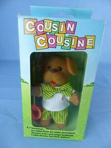 Rare Ancienne Petite Peluche Articulée Cousin Cousine Ajena De 1981 Boite (3)