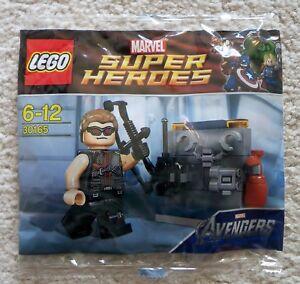 LEGO-Marvel-Super-Heroes-Avengers-Rare-30165-Hawkeye-with-Equipment-New