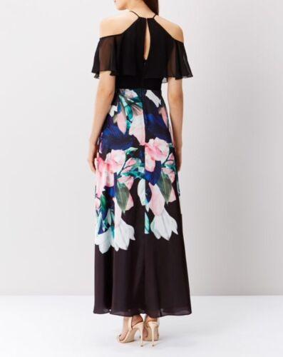 côte taille Magnifique imprimée flamenco Robe longue Multi Uk 26 CTxqvwdxO