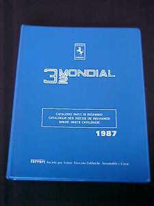 ferrari mondial 3 2 spare parts catalogue manual blue four ring book rh ebay com Ferrari 599 Ferrari 208 Vs.308