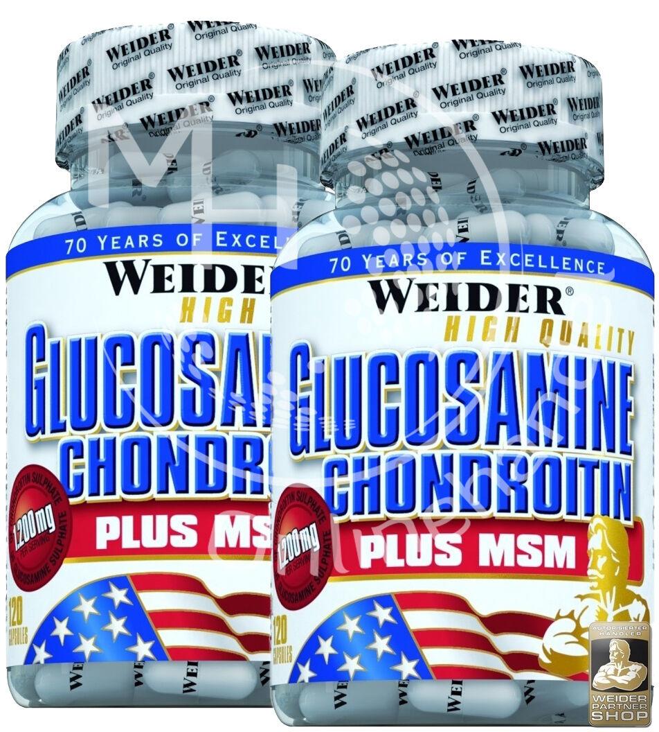 Weider Glucosamine + Chondroitin Plus MSM ( /kg) 2x 120 Kapseln