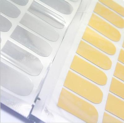 DI CA 16pcs Foil Armour Nail Art Sticker Gel Nail Patch Manicure Set Golden