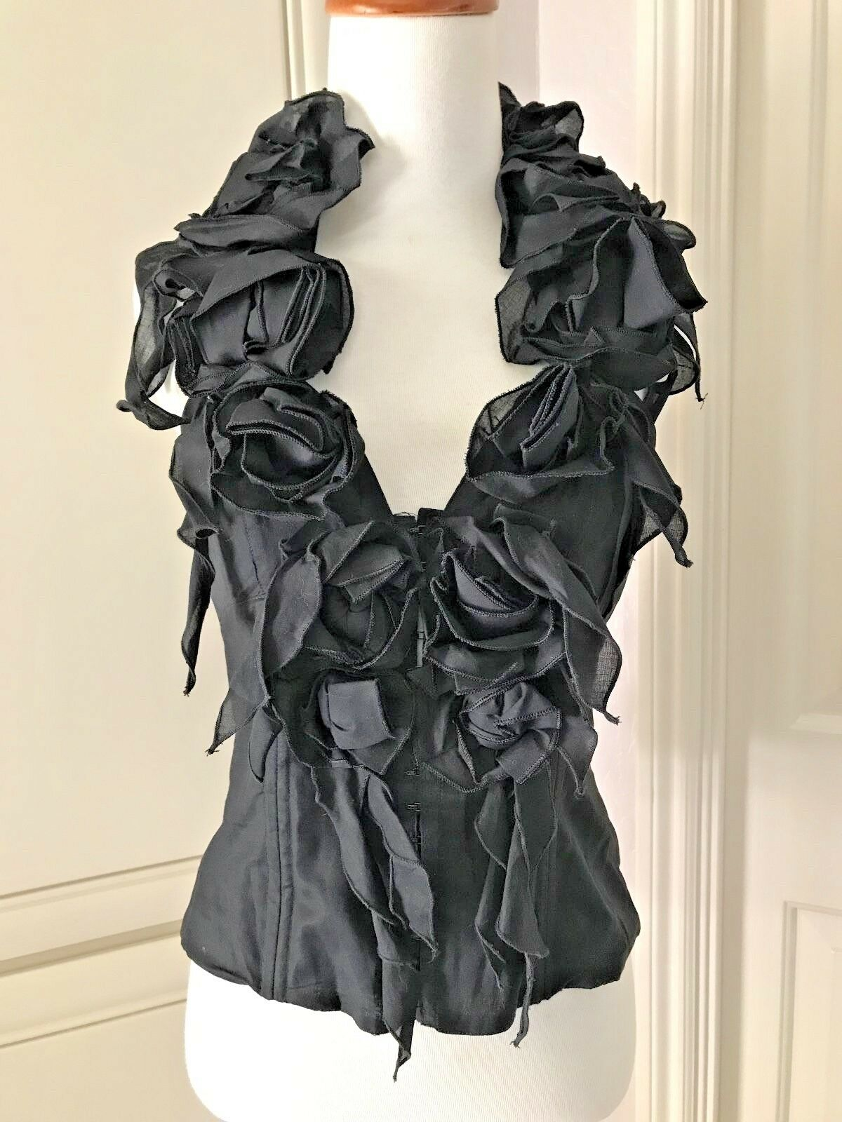 ANNE FONTAINE FRANCE  Halter-neck Top Blouse  Sz 40, schwarz, Only One on Ebay