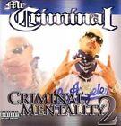 Criminal Mentality 2 by Mr Criminal CD 809367218321