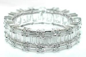 2-5-CT-3-Row-DIAMOND-ETERNITY-BAND-Round-Baguette-18KW