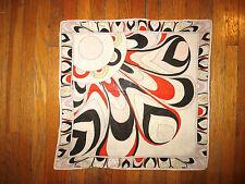 EMILIO PUCCI Red/Multicolor Print Cotton Square Pocket Scarf