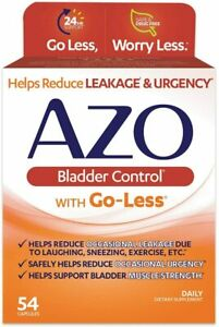 AZO Bladder Control with Go-Less, Helps Reduce Occasional Urgency, 54 ct