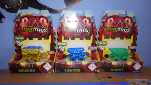 Dinotrux 3 amigos ton ton wrecka and scoot diecast dinosaur