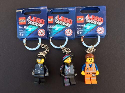 The LEGO Movie Key Chain Set 850894 850895 850896 Emmet Wyldstyle Badcop