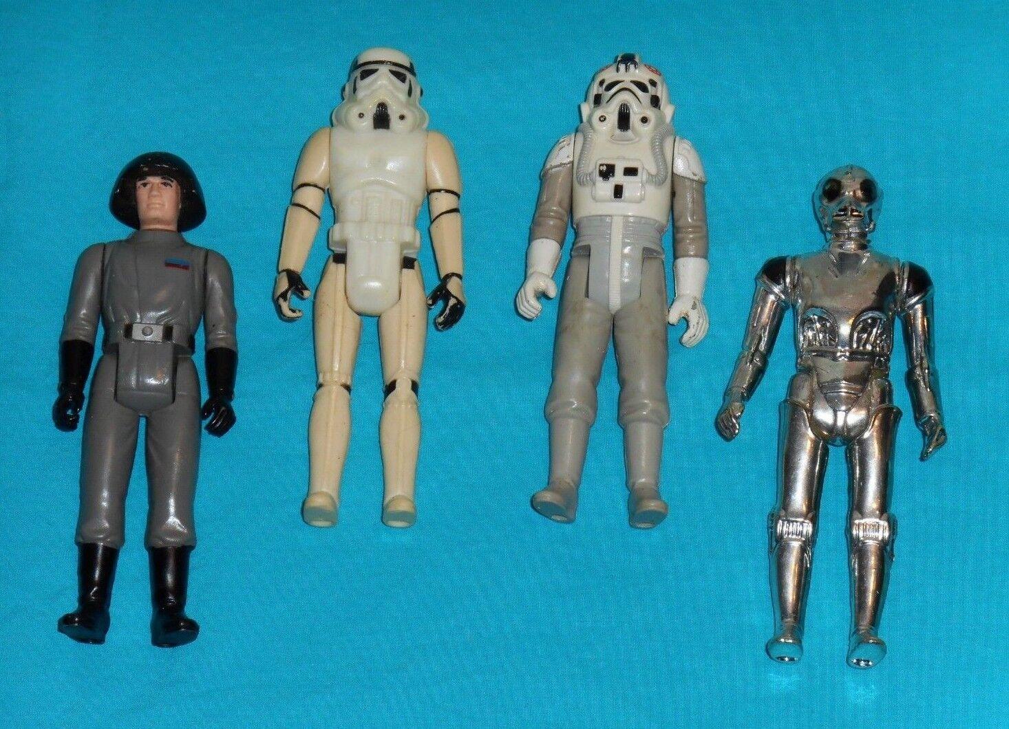 Vintage - star - wars - figur viel   158 todesstern - commander stormtrooper at-at