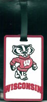 Wisconsin Badgers Luggage Bag Tag Id Tag Rubber Travel Tag Bucky Logo