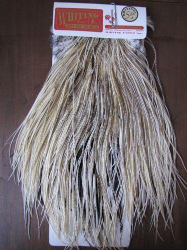 Angelsport-Artikel Fly Tying Whiting Silver Rooster Midge Saddle Unique Variant #G Angelsport-Köder, -Futtermittel & -Fliegen