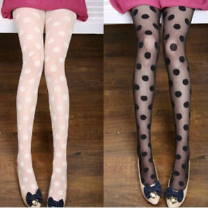 Ladies-Vintage-Polka-Dot-Tights-Fancy-Dress-Nights-Out-or-Clubbing-UK-Stock
