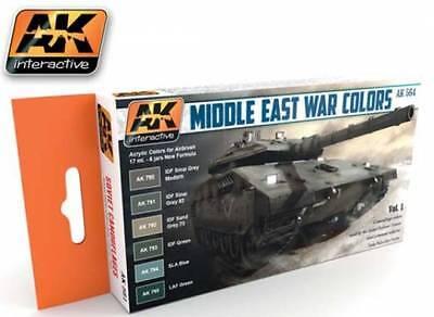 Ak Interactive AKI 564- Middle East Colors Acrylic Paint Set