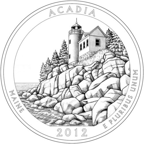 2012 P Acadia ME ~ National Parks ~ America the Beautiful ~ Coin from Mint Set