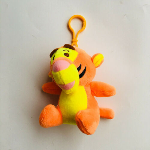 Lovely tigger tiger toy plush doll key chain anime keyring new