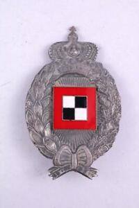 Impérial Allemand WW1 Air Force Observer Badge Bravoure Award Medal Flugertrupen